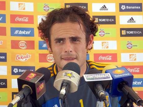 Enrique Palos, arquero de los Tigres de la UANL. Foto: Héctor Ortega / Terra
