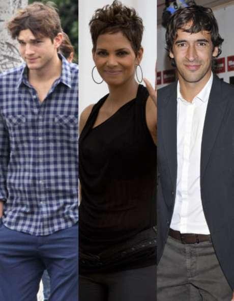 Ashton Kutcher, Halle Berry y Raúl González Foto: Gtres