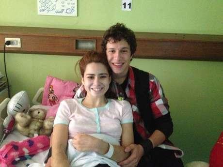 Catalina Picarte junto al ex protagonista de `Pobre rico´, Alonso Quintero. Foto: Gentileza