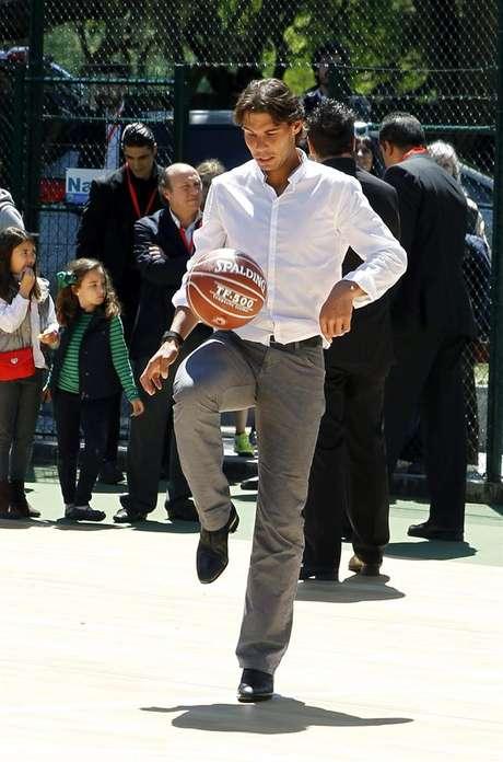 El tenista Rafael Nadal durante un acto publicitario Foto: EFE en español