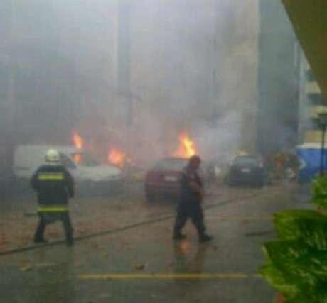 Imagen de la zona donde ha caído la aeronave subida por un miembro de los servicios de emergencias. Foto: Twitter (@Jacobo_Vidarte)