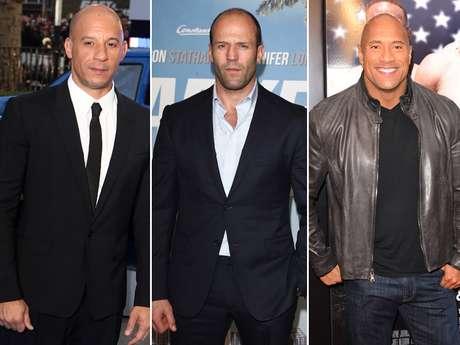 Vin Diesel, Jason Statham y Dwayne 'La Roca' Johnson, se verán las caras en la próxima ''Rápido y Furioso 7'' Foto: Getty Images