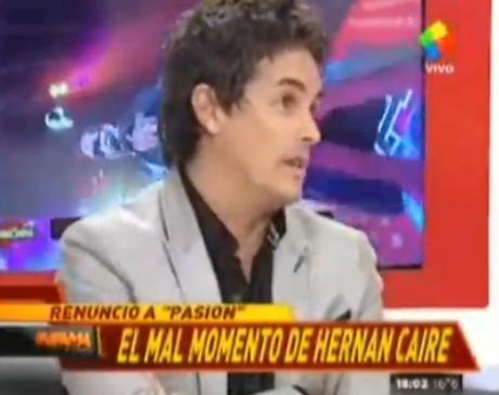 Hernán Caire se confesó en Infama tras su salida de Pasión de Sábado. Foto: Captura TV