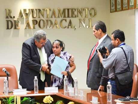 El alcalde de Apodaca, Raymundo Flores Elizondo, acata la recomendación de la Comisión de los Derechos Humanos en Nuevo León. Foto: Jonathan Tapia / Terra