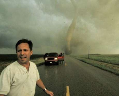 Tim Samaras en 'Cazadores de Tormentas', de Discovery Channel Foto: Discovery Channel