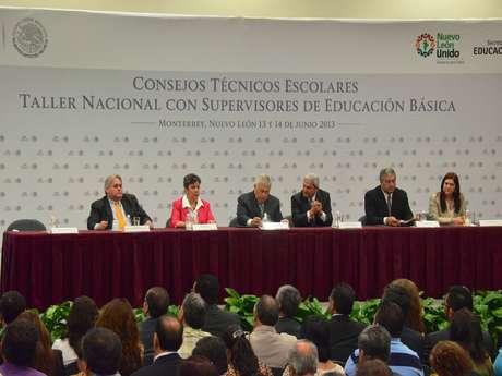 El Secretario de Educación Pública, Emilio Chuayffet Chemor, anunció desde Nuevo León el inicio de una nueva etapa en la Política Educativa de México. Foto: Jonathan Tapía / Terra