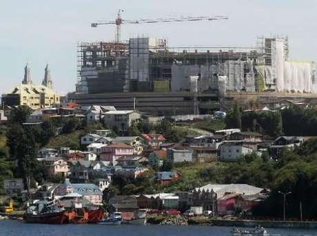 La cuestionada construcción del mall de Castro. Foto: Terra