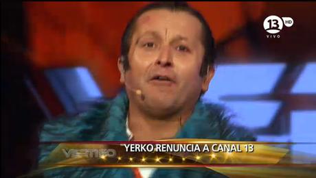 """El momento en que """"Yerko"""" se saca el maquillaje y supuestamente renuncia. Foto: Reproducción"""