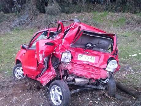 Uno de los vehículos involucrados Foto: Twitter/@gloriosasegunda