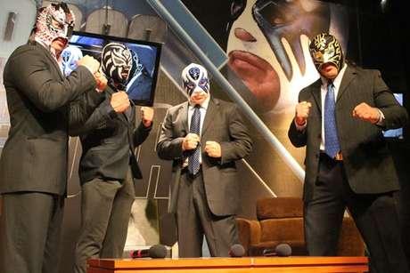 Volador Jr., La Sombra, Atlantis y Último Guerrero se enfrentarán en un cuadrangular estelar, donde caerá una cotizada máscara de estos gladiadores. Foto: Tomada de Internet