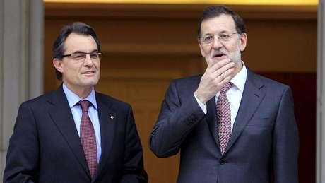 Artur Mas y Mariano Rajoy. Foto: ARCHIVO