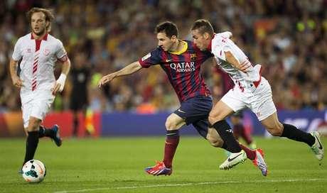 Messi durante el partido ante el Sevilla Foto: EFE en español