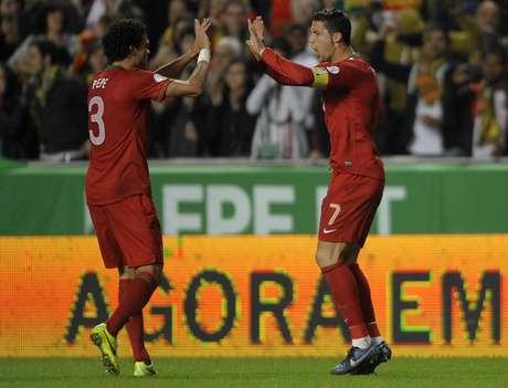 Portugal venció en el duelo de ida, con solitario tanto de CR7 Foto: AFP en español