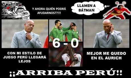 El accionar de la selección peruana ha sido objeto de burlas en la web. Y es que la goleada 6-0 en contra generó todo este malestar entre los aficionados. Foto: Facebook