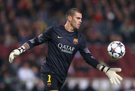 Víctor Valdés finalizasu contrato con el Barça al final de temporada Foto: Alex Livesey / Getty Images