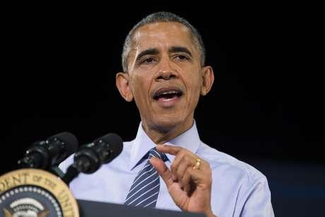 El presidente Barack Obama habla en Ivy Tech Community College, en Indianápolis, este viernes 6 de febrero del 2015. Foto: AP