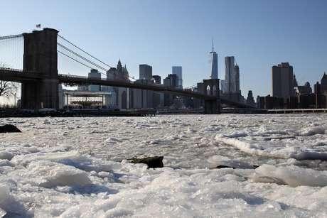 La ciudad de New York sufrirá vientos que crearían una sensación de frío por debajo de los 30 grados centígrados. Foto: AP