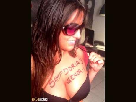 Claudia Romani encontró una sensual manera de hacer pronósticos. Foto: Sportnotizie24