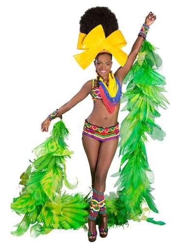 Señorita Chocó, Yesuly Londoño Mosquera. Traje Expresión afrocolombiana, Etnias Embera y Wau Nana.