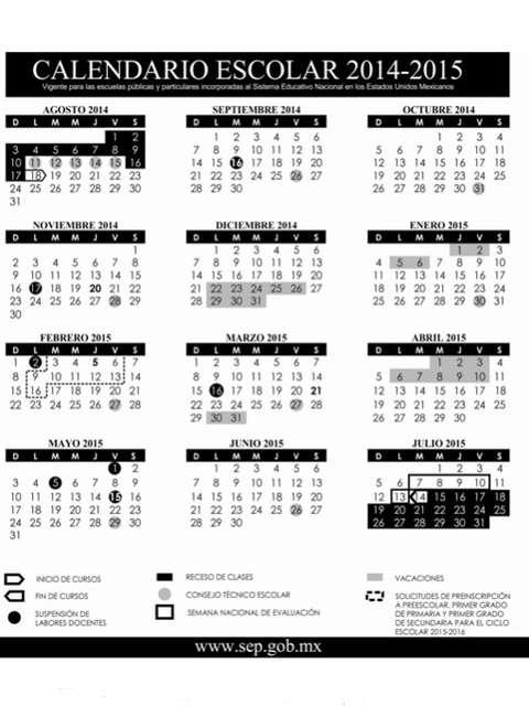 SEP presenta calendario escolar 2014-2015 - Terra México