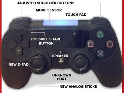 Imagen divulgada por el portal ING muestra prototipo del control de PS4. Foto: Reproducción