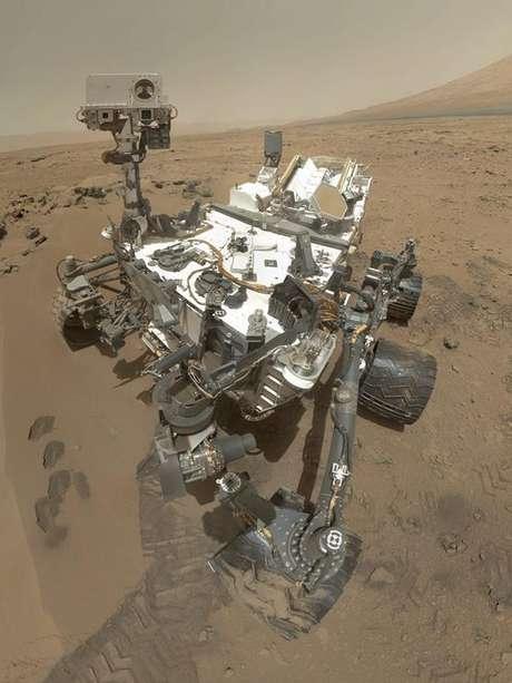 Autorretrato del explorador Curiosity que se encuentra en Marte. Foto: Agencia EFE / © EFE 2012. Está expresamente prohibida la redistribución y la redifusión de todo o parte de los contenidos de los servicios de Efe, sin previo y expreso consentimiento de la Agencia EFE S.A.