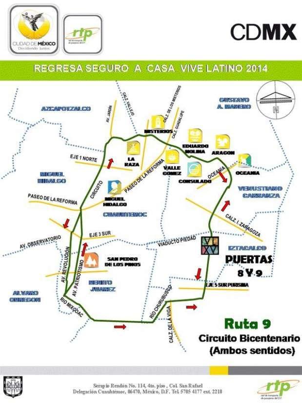 Circuito Bicentenario Expreso : Dirección y rutas para llegar al foro sol en metro o auto