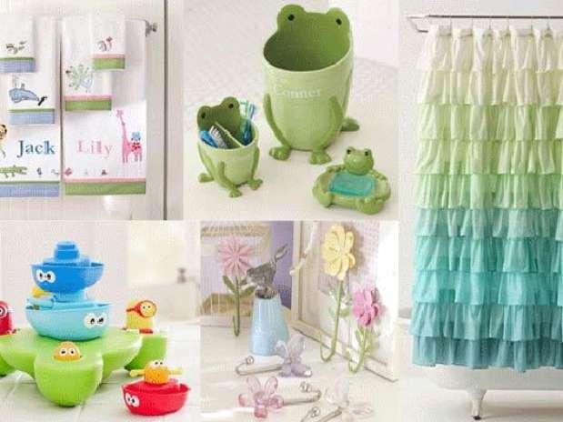 Set De Baño Infantil: set de jabonera, un vaso para los cepillos de dientes y un basurero