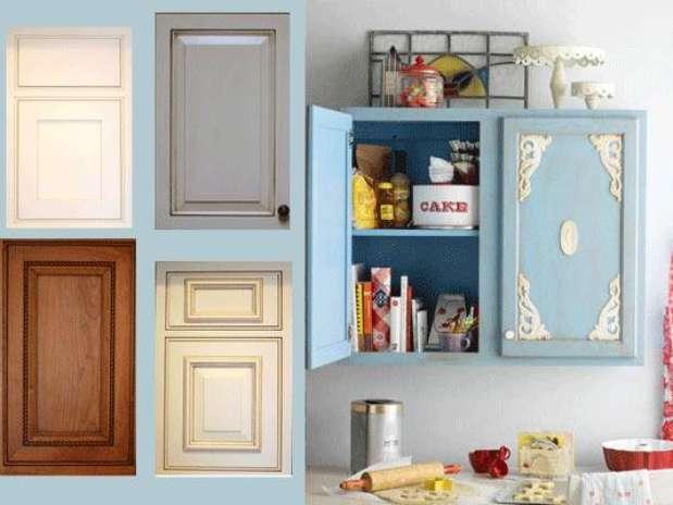 Gabinetes de cocina con diferentes molduras de color - Molduras para cocinas ...
