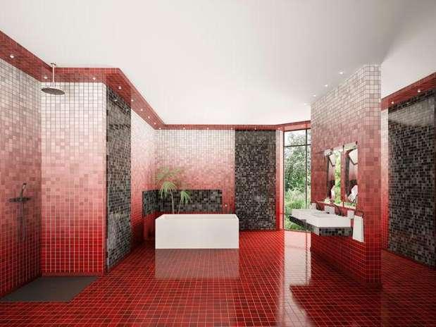 Baño Color Rojo Intenso:Baños en color rojo, la nueva tendencia en decoración