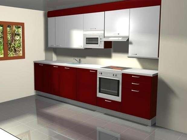 Colores para pintar tu casa burdeos intenso y elegante - Cocinas color burdeos ...