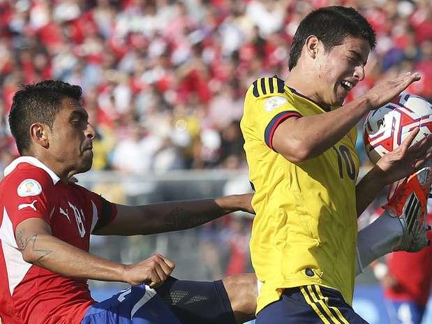 Colombia enfrenta a Chile en el Metropolitano Foto: EFE