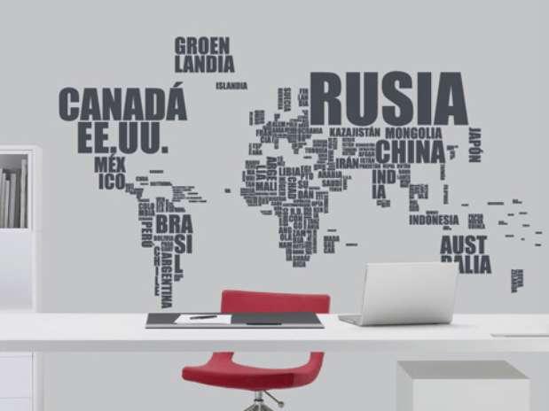 Mapa del mundo sin nombres para imprimir imagui for Vinilos decorativos letras