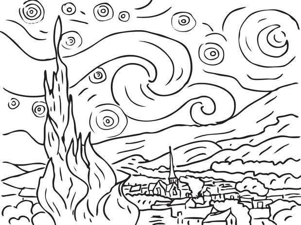 Dibujo Para Colorear De Vincent Van Gogh Imagui