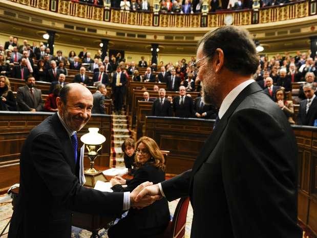 Rajoy y Rubalcaba se enfrentan por primera vez en un debate sobre el estado de la nación Foto: AFP