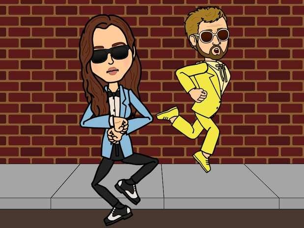 Dos personas bailando Gangnam style, con un sorprendente parecido a Brad y Angelina. Foto: Facebook
