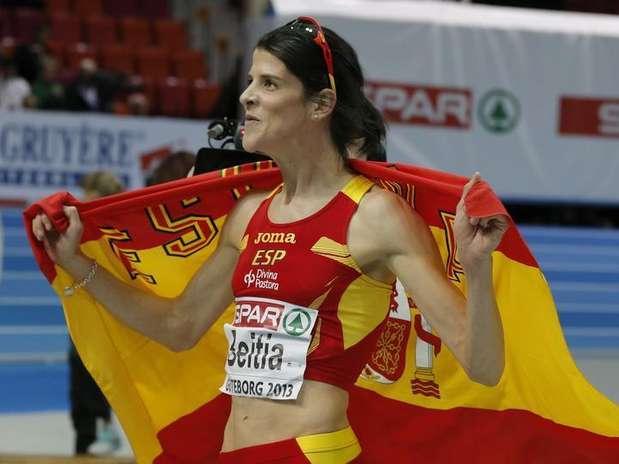 Ruth Beitia, campeona de Europa de salto de altura en los campeonatos en pista cubierta de Gotemburgo. Foto: Phil Noble / Reuters