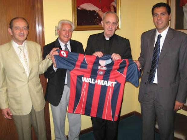 Francisco Primero con la camiseta de San Lorenzo. Foto: Cortesía.