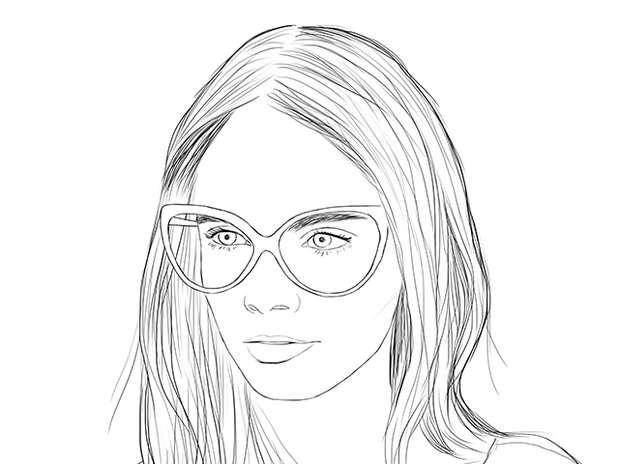 Imagenes de caras de chicas para colorear - Imagui