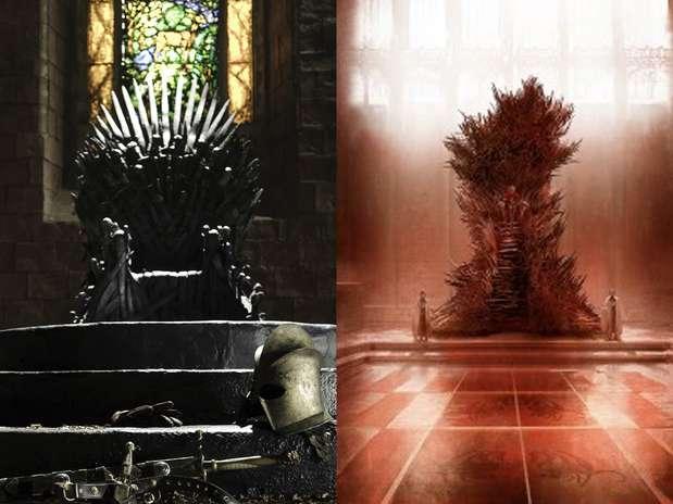 ¿Qué trono te gusta más? El de la serie de HBO'Game of Thrones', o el del autor de los libros en el que está basada la producción. Foto: Blog George R.R. Martin/ HBO