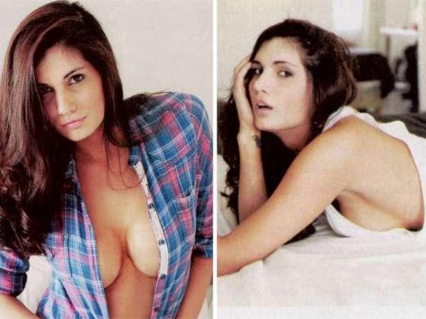 La morocha aprovecha sus minutos de fama y ya posó con pocas ropa parauna revista Foto: Gentileza Revista Paparazzi