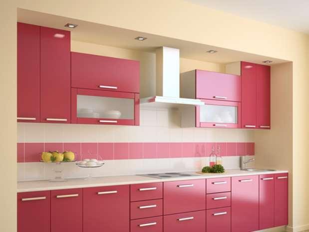 Cocinas el espacio perfecto para el color - Cocina rosa ...