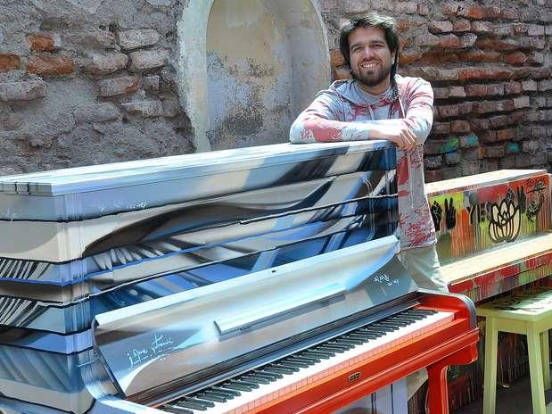 Mas pianos en mi ciudad es un regalo que Mall Plaza Egaña hace a la ciudad. Foto: Gentileza Mall Plaza