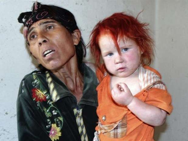 El ADN confirmó que esta mujer, identificada comoSacha Roussev, es la madre biológica del llamado 'Ángel rubio'. Foto: EFE en español