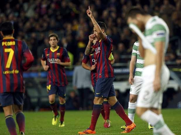 Tiki Taka Team Golazo! Cristian Tello scores v Celtic after 40 Barcelona passes