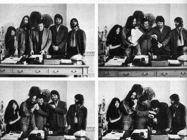 Allen Klein y los Beatles Foto: Internet