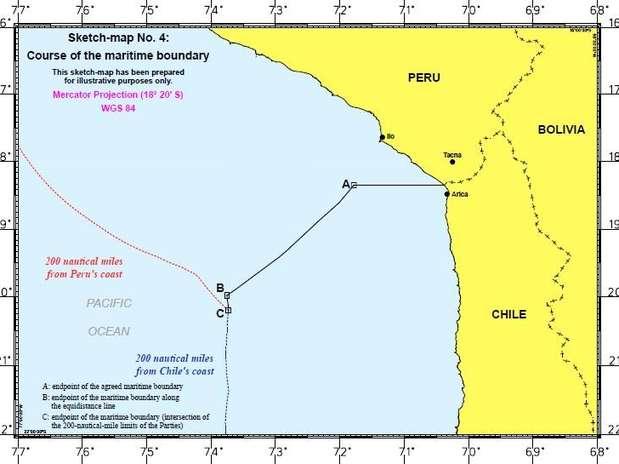 Los límites en la zona se modificaron y al Perú se le otorgó una zona marítima a la cual antes no tenía acceso: más de 28 mil kilómetros cuadrados. Foto: Difusión