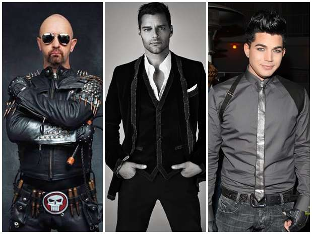 Rob Halford, Ricky Martin y Adam Lambert, Foto: Reproducción