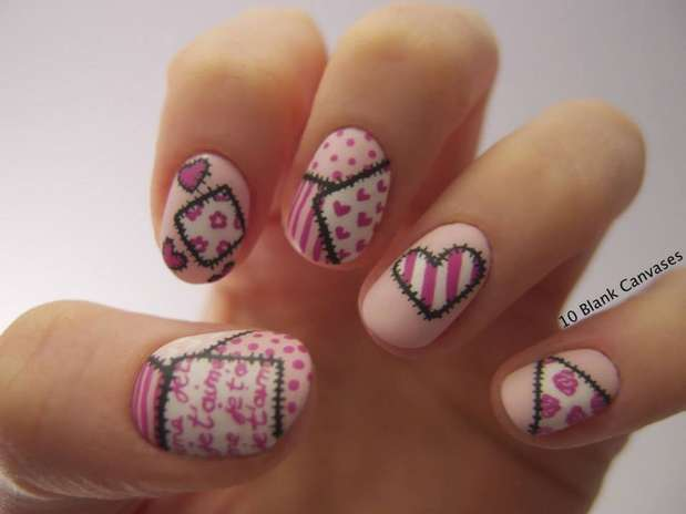 Uñas decoradas 2014 FaceBook - Imagui
