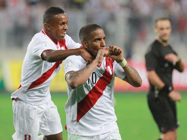 Farfán anotó su tercer gol en este proceso eliminatorio Foto: Miguel Ángel Bustamante / Terra Perú